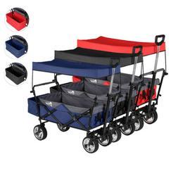 Folding Collapsible Beach Wagon Utility Cart Garden Outdoor