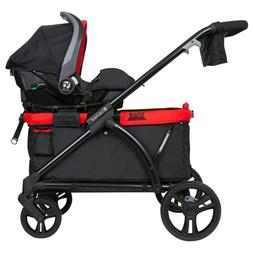2 in 1 Stroller Wagon Baby Carrier Toddler Large Cargo Space