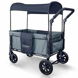 Wonderfold 2 Passenger Push Folding Stroller Wagon, with Can