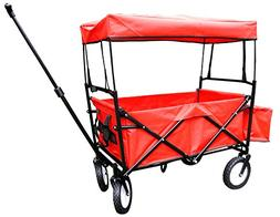 Bieco 22000116Folding Handcart with Raincover, 90x 53x