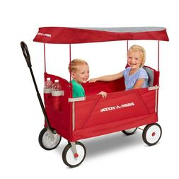 Radio Flyer, 3-in-1 EZ Fold Wagon Canopy Outdoor Ride-On Toy