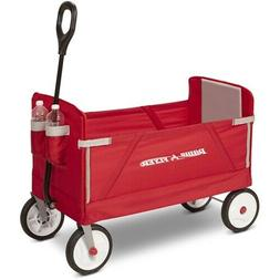 Radio Flyer 3-in-1 EZ Fold Wagon Red Outdoor Compact Kids Co