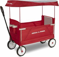 Radio Flyer 3-In-1 EZ Folding, Outdoor Collapsible Wagon for