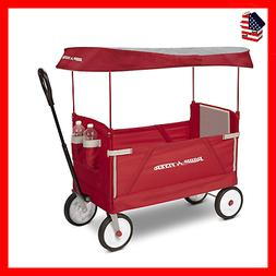 Radio Flyer 3-In-1 EZ Folding Wagon with Canopy for kids and