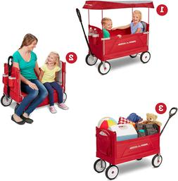 Radio Flyer  3-In-1 Ez Folding Wagon with Canopy For Kids &