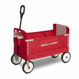 Radio Flyer 3-in-1 EZ Folding Wagon for kids and cargo Bench