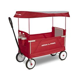 3-In-1 EZ Folding Wagon with Canopy for Kids and Cargo