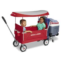 3-in-1 Tailgater Wagon with Canopy, Folding Wagon, Red with