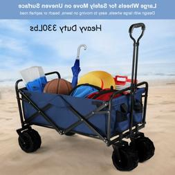330Lbs Collapsible Folding Outdoor Utility Wagon Heavy Duty