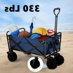 330lbs Wagon Cart Beach Collapsible Folding Utility Cart Cam