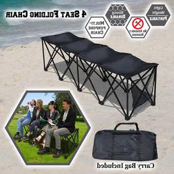 3/4/6/8 Person Seat Folding Sideline Bench Seater Chair Outd