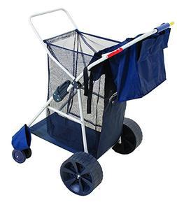 MEDA 40917 Deluxe Wonder Wheeler Beach Cart, Blue