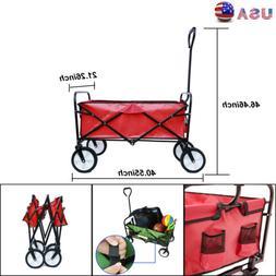 """46.46"""" Folding  Beach Cart Wagon Home Garden Shopping Outdoo"""