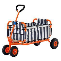 Sandusky 5 Cu Ft Folding Yard Utility Pull Cart Garden Tool