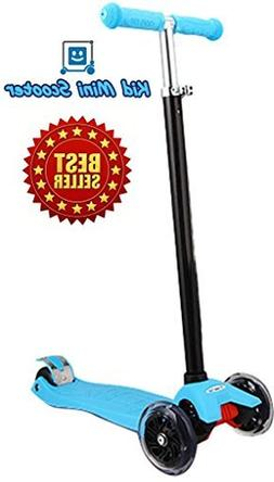 Kid Mini Scooter w/ LED Up Wheels Handle Bar Max Weight 143l