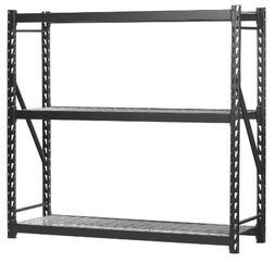 Muscle Rack ERZ772472WL3 Black Heavy Duty Steel Welded Stora