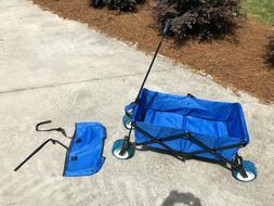 all terrain folding wagon blue