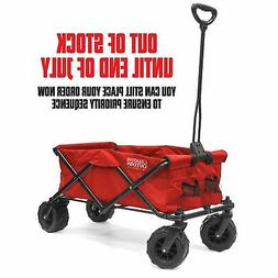 All-Terrain Folding Wagon | Red