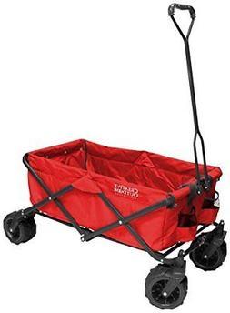 Creative Outdoor Distributors All-Terrain Folding Wagon, Red