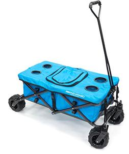 all terrain folding wagon tabletop with cooler