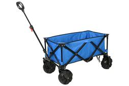 All-Terrain Folding Wagon With Very Large Wheels, Blue,Outdo