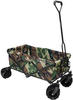 All-Terrain Hunter Camo Folding Wagon with Rugged Wheels - F
