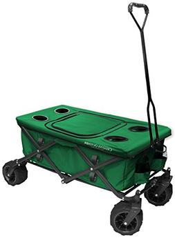 Creative Outdoor All-Terrain Folding Wagon with Cooler Table