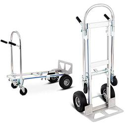 2in1 Aluminum Hand Truck Convertible Folding Dolly Platform