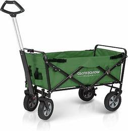 WonderFold Basic Outdoor Folding Wagon - Green