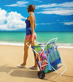 beach wagon cart collapsible folding outdoor utility