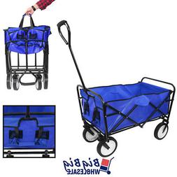 Beach Wagon Cart Kid Folding Storage Camping Trolley Garden