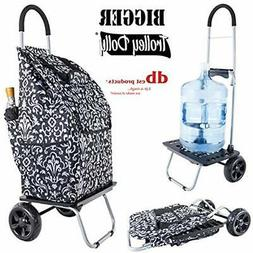Bigger Trolley Utility Carts Dolly, Damask Shopping Grocery
