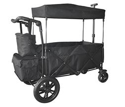 BLACK OUTDOOR FOLDING PUSH WAGON CANOPY GARDEN UTILITY TRAVE