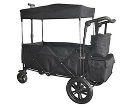 BLACK PUSH AND PULL HANDLE WITH REAR FOOT BRAKE FOLDING STRO