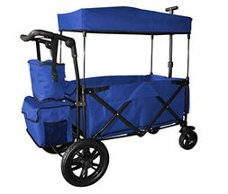 BLUE PUSH AND PULL HANDLE WITH REAR FOOT BRAKE OUTDOOR SPORT