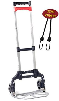 Bovado USA BOV-16636 Hand Truck, Folding Aluminum Cart, Move