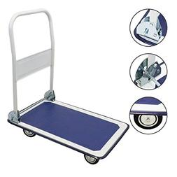 "Cart Folding Dolly Platform Cart 330 lbs 28.3"" X 18.9""  4 Wh"