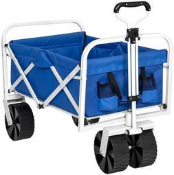 Carts On Wheels Utility Folds Garden Wagons Yard Outdoor Por
