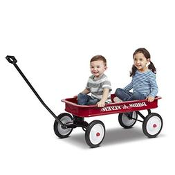 Classic Red Wagon Ride On AllSteel Seamless Body ExtraLong H