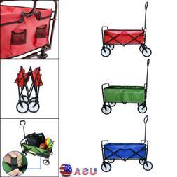Collapsible Beach Cart Folding Wagon Garden Shopping Outdoor