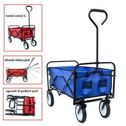 Collapsible Beach Cart Folding Wagon Utility Shopping Cart O