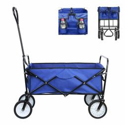 Collapsible Beach Wagon Folding Support Up165lbs Camping Uti