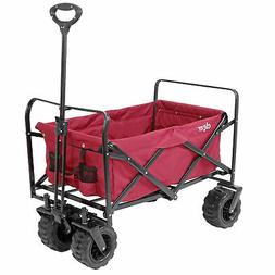 Collapsible Foldable Outdoor Utility Wagon Cart with All Ter