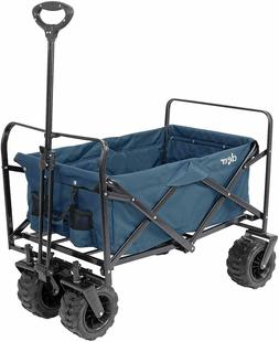 Collapsible Foldable Wagon Cart w/ Large All Terrain Wheels,