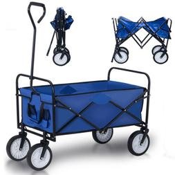 Collapsible Folding All Terrain Utility Wagon Beach Cart Pul