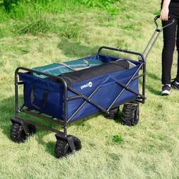 Collapsible Folding Wagon Cart Beach Garden Yard Portable Ut