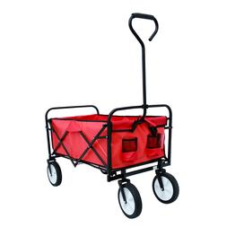 Collapsible Folding Outdoor Utility Wagon Cart w/ Drink Hold