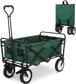 Collapsible Folding Outdoor Utility Wagon Heavy Duty Garden