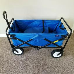 Mac Sports Collapsible Folding Steel Frame Blue Utility Wago