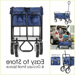 Collapsible Folding Steel Frame Outdoor Garden Utility Wagon